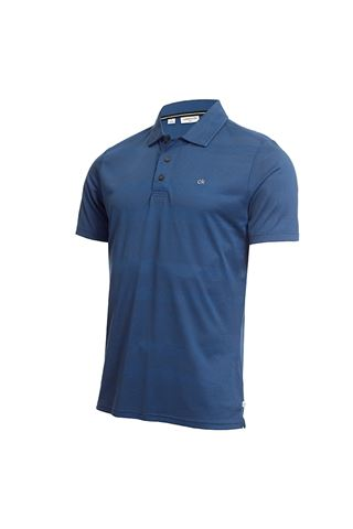 Picture of Calvin Klein Men's Shadow Stripe Polo Shirt - Ocean Marl