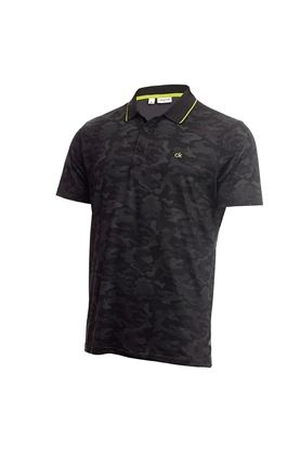 Show details for Calvin Klein Men's Camo Pro Polo Shirt - Silver / Black