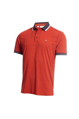 Show details for Calvin Klein Men's Blade Polo Shirt - Red / Navy
