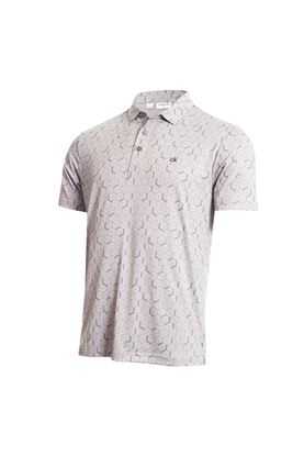 Show details for Calvin  Klein Men's Rock Face Polo Shirt - Silver Marl