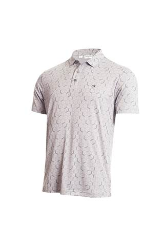 Picture of Calvin  Klein Men's Rock Face Polo Shirt - Silver Marl