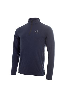 Show details for Calvin Klein Men's Newport Premium 1/2 Zip Top - Navy Marl