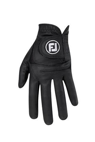 Picture of Footjoy Ladies Weather Sof Golf Glove - Black / Black