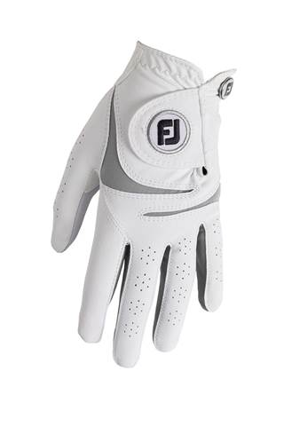 Picture of Footjoy Ladies Weather Sof Golf Glove - White / Grey