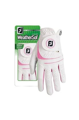 Show details for Footjoy Ladies Weather Sof Golf Glove - White / Pink