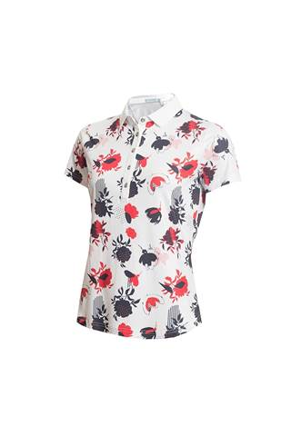 Picture of Green Lamb Ladies Edel Printed Polo Shirt - Floral