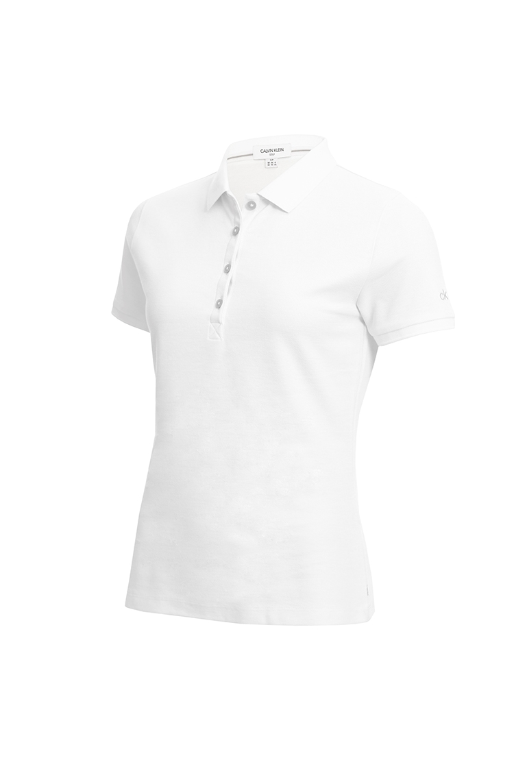 Picture of Calvin Klein Performance Pique Polo Shirt - White