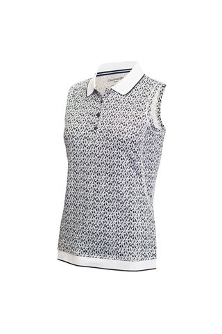 Picture of Calvin Klein Solana Sleeveless Polo Shirt - Powder
