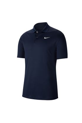 Show details for Nike Golf Dri-FIT Victory Polo Shirt - Obsidian / White