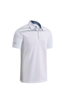 Show details for Callaway Shoulder Print Polo Shirt - Bright White