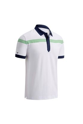 Show details for Callaway Linear Print Polo - Bright White