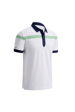Picture of Callaway Linear Print Polo - Bright White