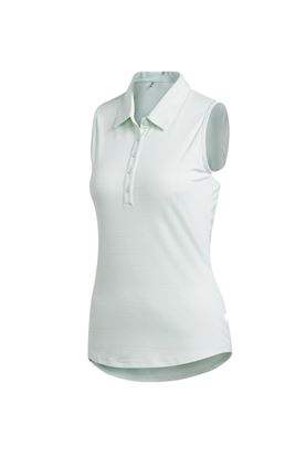 Show details for adidas Womens Novelty Sleeveless Polo Shirt - Dash Green