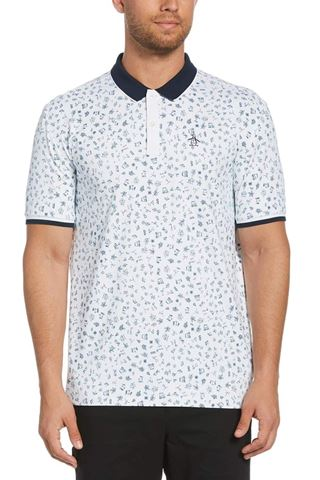 Picture of Original Penguin zns Clubhouse Printed Polo Shirt - Bright White