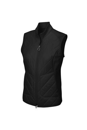 Show details for Greg Norman zns Chevron Quilted Cire Gilet - Black