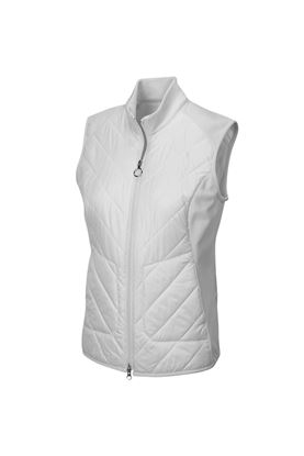 Show details for Greg Norman Chevron Quilted Cire Gilet - White