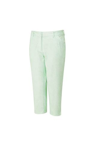 Picture of Ping Daisy Ladies Crop Trousers - Mint / White