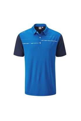 Show details for Ping Newton Men's Golf Polo Shirt - Snorkel Blue / Oxford Blue