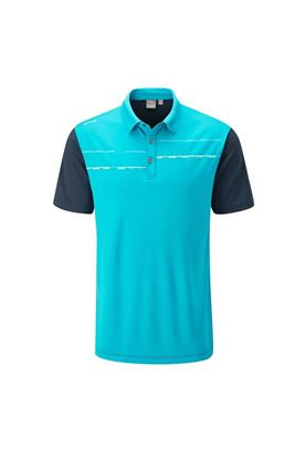Show details for Ping Newton Men's Golf Polo Shirt - Lagoon Falls / Oxford Blue