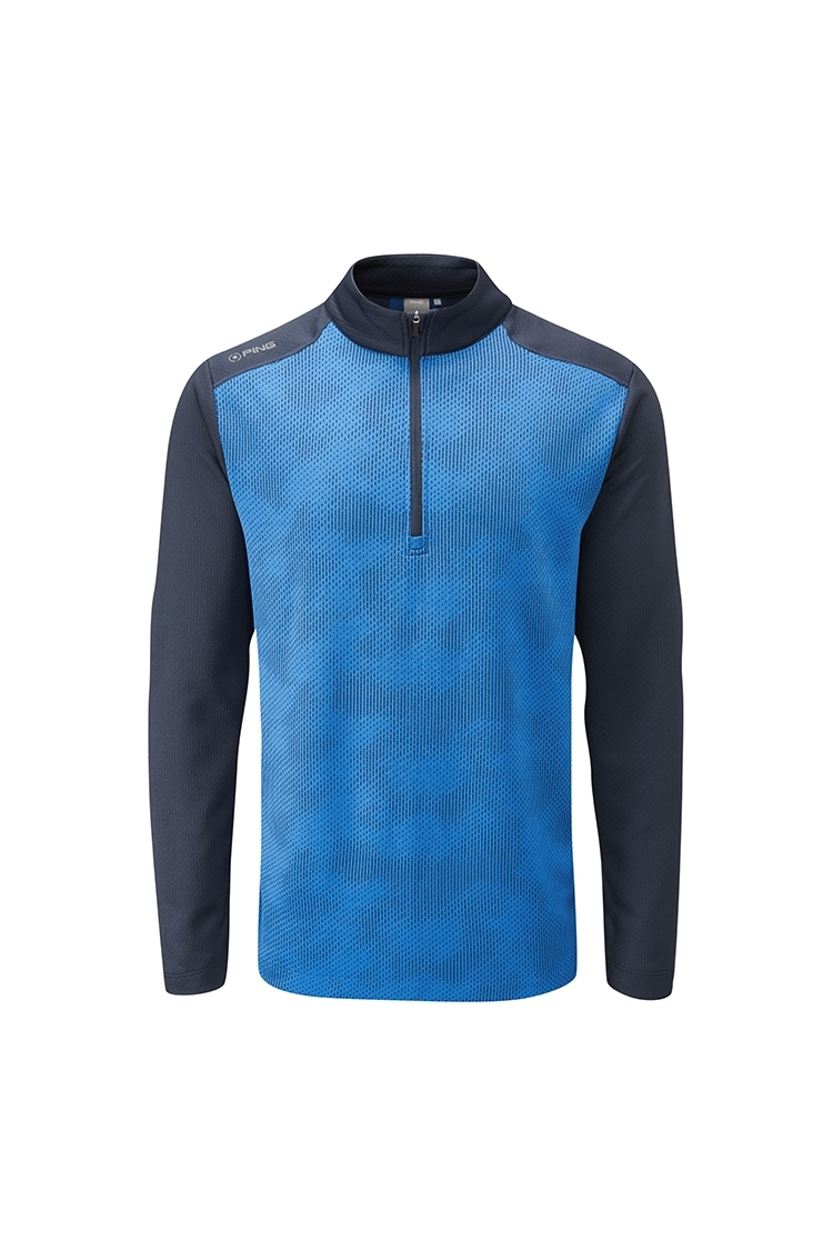 Picture of Ping Vertical Men's Half Zip Golf Top - Snorkel Blue / Navy