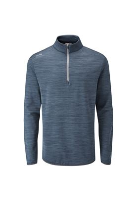 Show details for Ping Edison Men's Half Zip Golf Top - Oxford Blue Marl