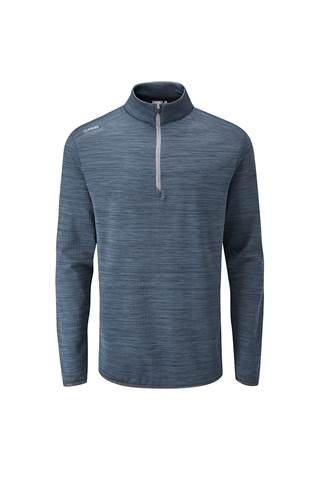 Picture of Ping Edison Men's Half Zip Golf Top - Oxford Blue Marl