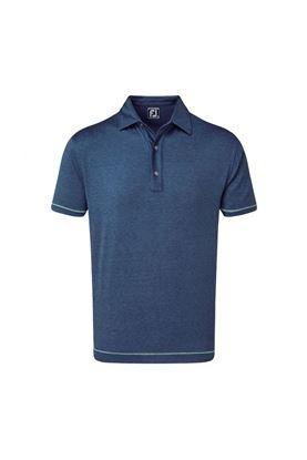 Show details for Footjoy Lisle Spacedye Microstripe Polo Shirt - Deep Blue