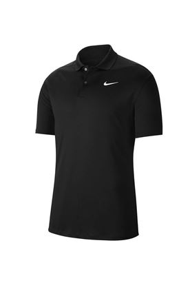 Show details for Nike Golf Dri-FIT Victory Polo Shirt - Black / White