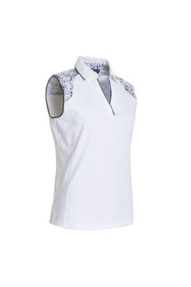 Show details for Abacus Ladies Emy Sleeveless Polo Shirt - White 100