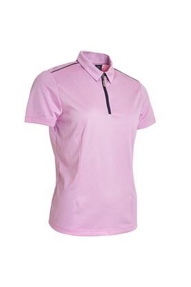 Show details for Abacus Ladies Vilna 1/2 Zip Polo Shirt - Peony 390