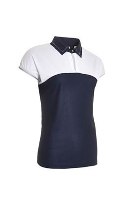 Show details for Abacus Ladies Vilna Cup Sleeve Polo Shirt - Navy 300