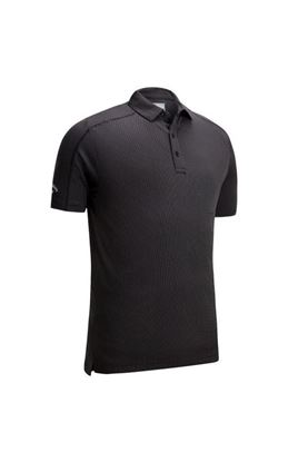 Show details for Callaway Box Jaquard Polo Shirt - Caviar