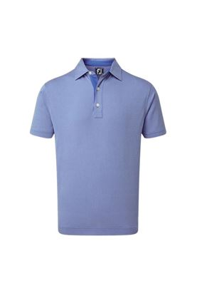 Show details for Footjoy Four Dot Jacquard Polo Shirt - Royal / White