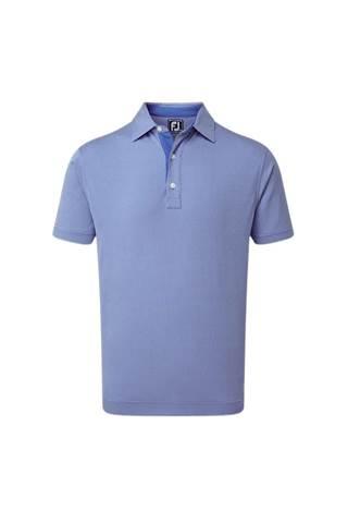 Picture of Footjoy Four Dot Jacquard Polo Shirt - Royal / White