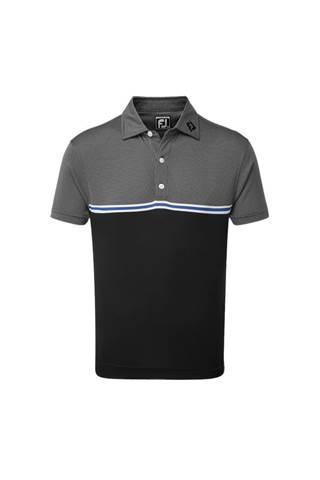 Picture of Footjoy Jacquard Top Colour Block Polo Shirt - Black