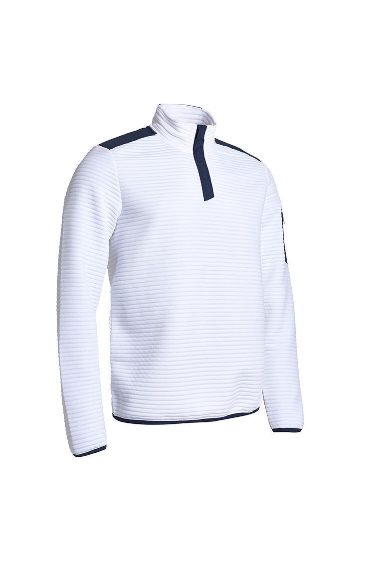 Picture of Abacus Men's Buddock Half Zip Fleece - White / Navy