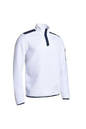 Show details for Abacus Men's Buddock Half Zip Fleece - White / Navy