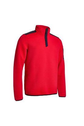Show details for Abacus Men's Buddock Half Zip Fleece - Red