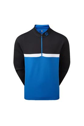 Show details for Footjoy Colour Blocked Chill Out Pullover - Black / Royal