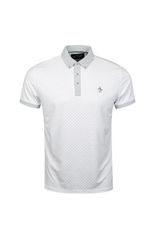 Picture of Original Penguin zns Checkerboard Pete Polo Shirt - Pearl Blue