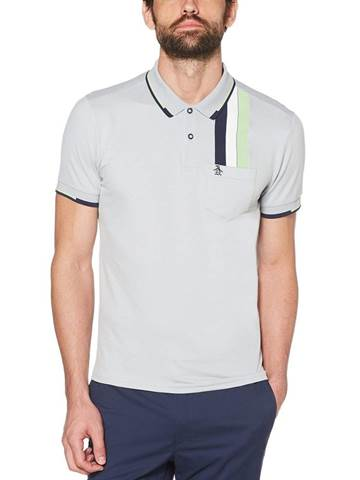Picture of Original Penguin Racing Stripe Polo Shirt - Pearl Blue
