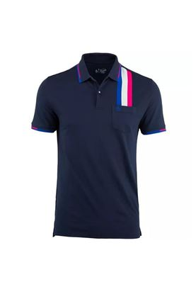 Show details for Original Penguin zns  Racing Stripe Polo Shirt - Black Iris