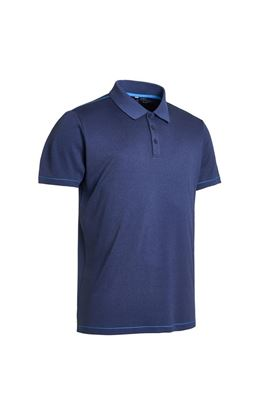 Show details for Abacus Men's Ben Polo Shirt - Blue Melange