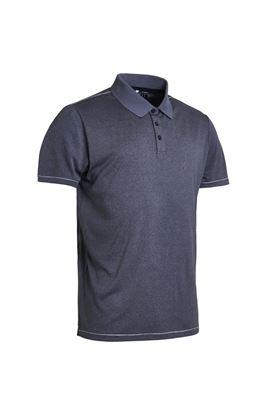 Show details for Abacus Men's Ben Polo Shirt - Dark Grey Melange
