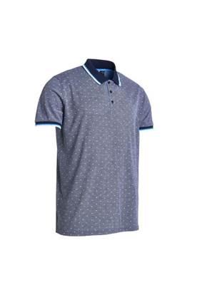 Show details for Abacus Men's Hamilton Polo Shirt - Navy Melange