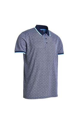 Show details for Abacus Men's Hamilton Polo Shirt - Navy Melange