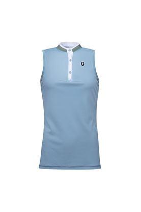 Show details for Cross Sportswear Women's Sally Sleeveless Polo Shirt - Forever Blue