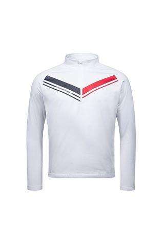Picture of Cross Sportswear Men's Cut T-Neck Sweater - White
