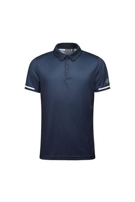 Show details for Cross Sportswear Men's Brassie Polo Shirt - Navy Check II
