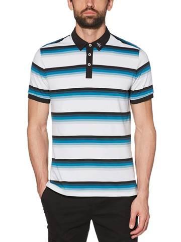 Picture of Original Penguin Pete Stripe Polo Shirt - Bright White